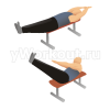 Скручивание лежа на скамье с подъёмом ног