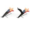 Попеременное поднятие ног на наклонной скамье