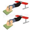 Упражнение «планка» с ногами на скамье
