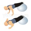 Отжимания, ноги на фитболе