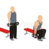 Приседания с гантелями используя скамью