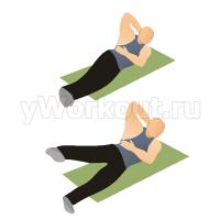Скручивание на боку с подъемом ног