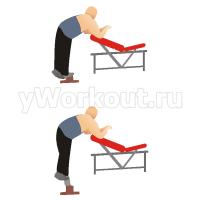 Упражнение «ослик» одной ногой