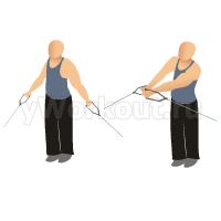 Приподнимание рук снизу на блоке