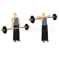 Вертикальная тяга штанги к груди