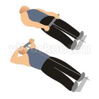 Вертикальная тяга к груди на блоке лежа